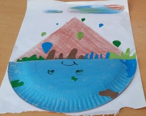 Kindergarten Earth Day Theme Paper Plate Craft Idea