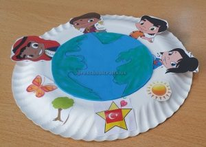 Kindergarten Earth Day Theme Paper Plate Craft Ideas