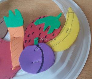 Kindergarten Spring Fruits Craft Ideas - Carrot Banana Strawberry Craft Ideas