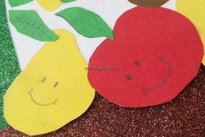 Kindergarten Spring Fruits Craft Ideas - Pear Apple Craft Ideas