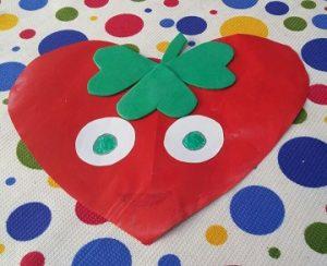 Kindergarten Spring Fruits Craft Ideas - Strawberry Craft Ideas