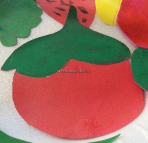 Kindergarten Spring Fruits Craft Ideas - Tomato Craft Ideas