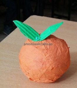 Orange Craft Ideas for Kindergarten - Spring Fruits Craft Ideas