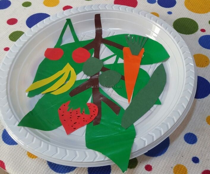 Paper Plate Craft Ideas for Preschool - Fruit Craft Ideas & Spring Fruits u0026 Vegetables Craft Ideas for Preschool - Preschool and ...