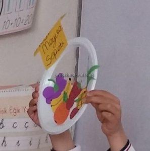 Paper Plate Fruits Craft Ideas for Kindergarten - Spring Fruits Craft Ideas