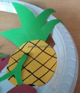 Pear Craft Ideas for Kindergarten - Spring Fruits Craft Ideas