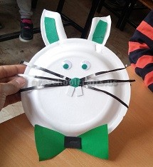 Plastic Plate Easter Bunny Craft for Kids