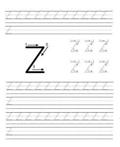 Preschool Worksheet to Uppercase Letter Z