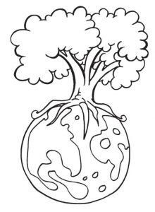 Printable Earth Day Coloring Page for Kindergarten