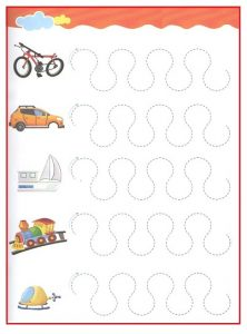 Printable Tracing Line Worksheet for Kids