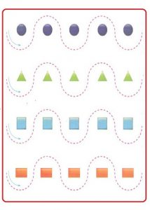 Printable Tracing Line Worksheet for Preschool Teachers