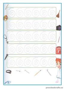 Printable Tracing Line Worksheets for Kindergarten
