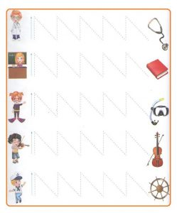 Printable Tracing Line Worksheets for Preschool