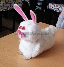 Rabbit craft to easter for preschool