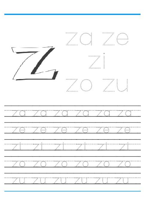 Letter Z Worksheets for Preschool Kindergarten Printable