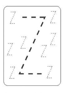 Small letter z worksheet for preschool - Practice tracing Line letter z worksheets for 1st grade