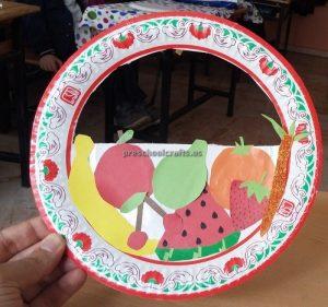 Spring Fruit Paper Plate Craft Ideas for Kindergarten