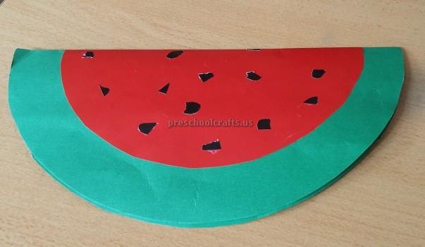 Watermelon Craft For Preschoolers