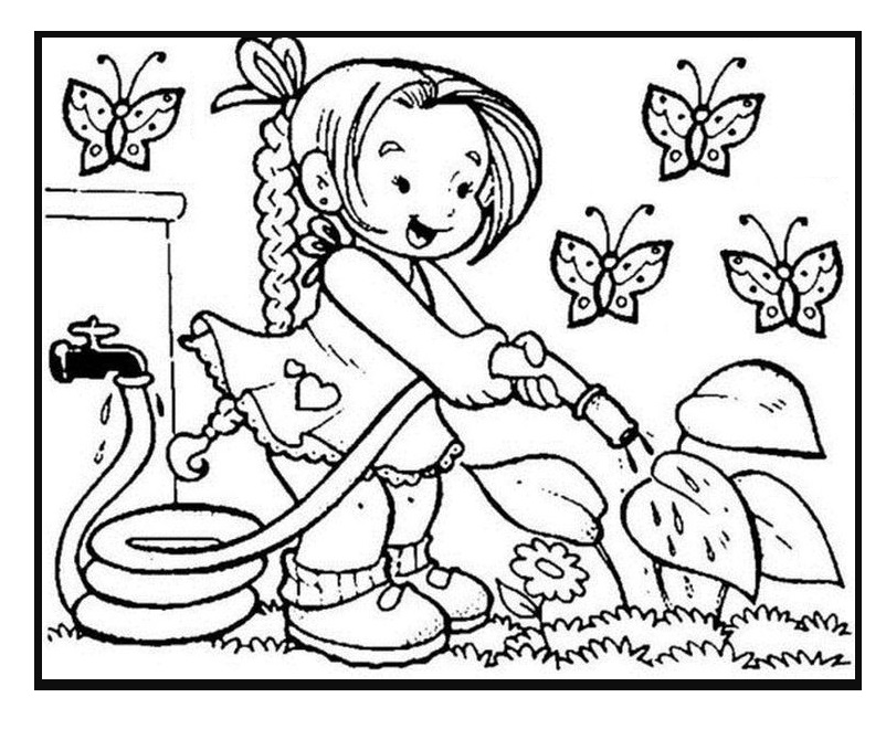 Spring coloring pages for toddler free printable for Spring themed coloring pages