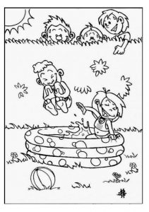 Spring theme coloring pages for kids free