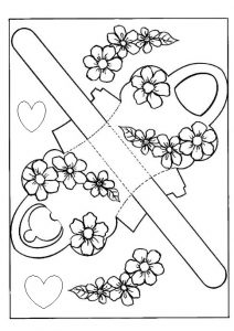 Spring theme coloring pages for kids free printable