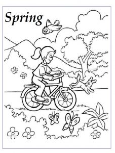 Spring theme coloring pages for kindergarten free printable