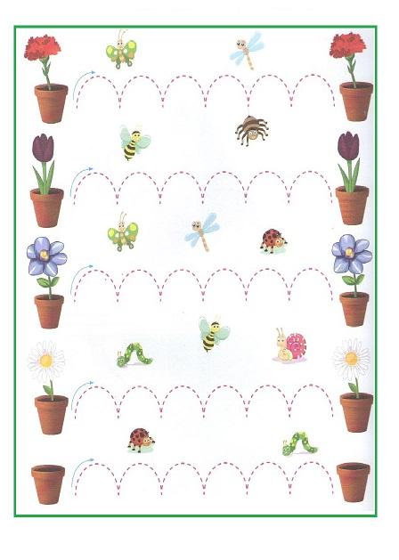 All Worksheets 187 Spring Tracing Worksheets Printable