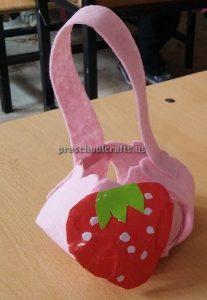 Strawberry Craft Ideas for Kindergarten - Spring Fruits Craft Ideas