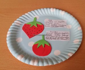 Strawberry and Tomato Craft Ideas for Kindergarten - Spring Fruits Craft Ideas