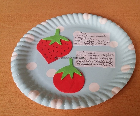 Strawberry And Tomato Craft Ideas For Kindergarten