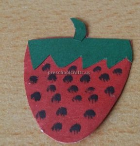 Strawberry craft idea for preschoolers