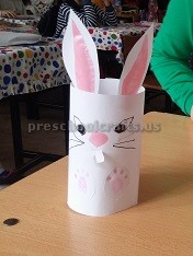 Toilet Roll Paper Craft to Easter Preschool