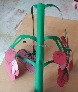 Tomato Craft Ideas for Kindergarten - Spring Fruits Craft Ideas