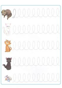 Tracing Line Worksheet for Preschooler