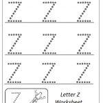 Uppercase Letter Z Worksheet Trace Line
