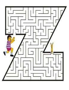 Uppercase Letter Z Worksheet for Kindergarteners