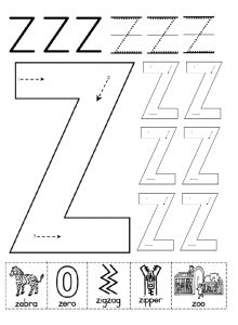 uppercase letter z worksheet free printable preschool and kindergarten. Black Bedroom Furniture Sets. Home Design Ideas