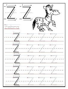 Uppercase Letter Z Worksheet for preschool