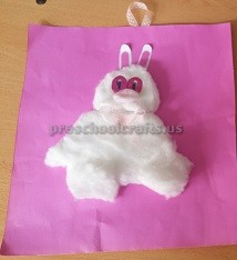 cotton bunny craft to easter