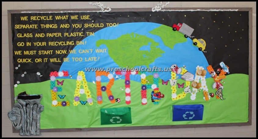 Earth Day Bulletin Boards on preschool cut and paste worksheets