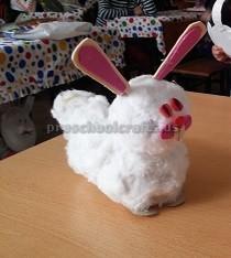easter bunny craft idea for preschool