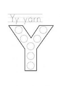 free printable uppercase letter Y practice for preschoolers