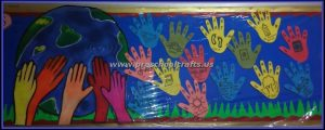 handprint earth day bulletin board ideas