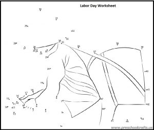 happy labour day dot to dot worksheets