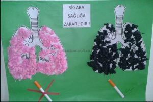health week cigarette bulletin board ideas for preschool