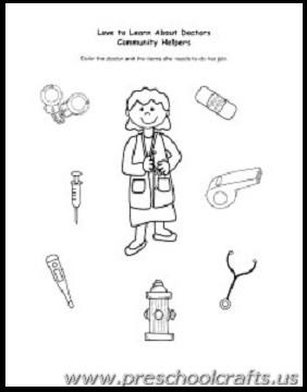 kids labor day worksheets - Preschool Crafts