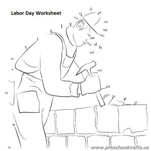 labour day printable worksheets for preschool