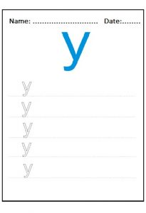 lowercase letter y drawing for firstgrade