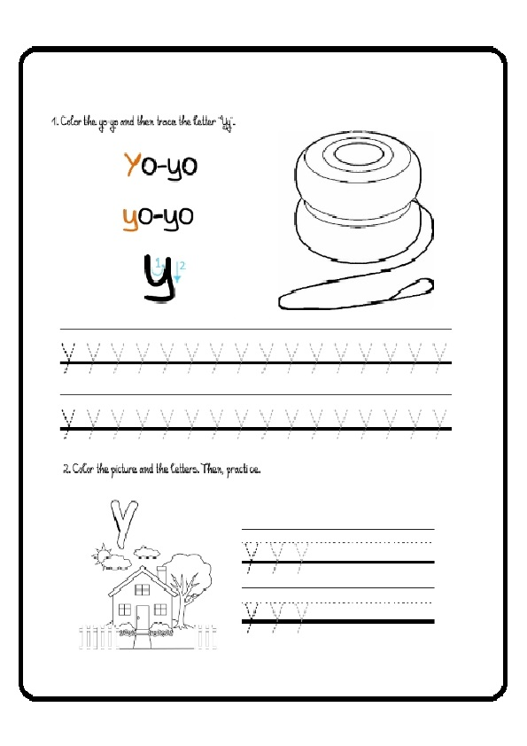 lowercase letter y tracing worksheet for preschoolers preschool crafts. Black Bedroom Furniture Sets. Home Design Ideas