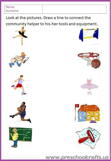occupation worksheets for kids - Preschool Crafts